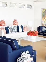 coralthrow pillows summer color combo navy blue u0026 orange pure