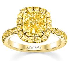 canary engagement rings yellow gold canary halo engagement ring