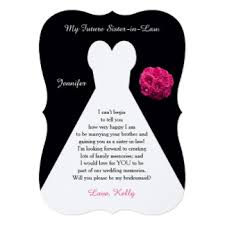 poems to ask bridesmaids custom wedding bridesmaids invitation cards