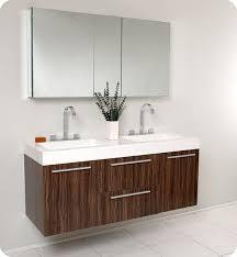 Walnut Bathroom Vanity Fresca Opulento 54 Inch Modern Wall Mount Bathroom Vanity
