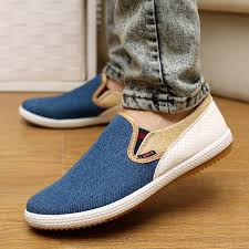 Comfortable Canvas Sneakers New Men Autumn Canvas Casual Comfortable Shoes Slip On Design For Men