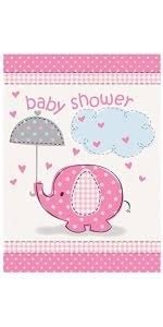 girl baby shower pink elephant girl baby shower invitations 8ct