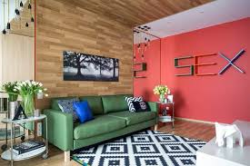 Bright Room Colors And Provocative Interior Design And Decorating - Contemporary green living room design ideas