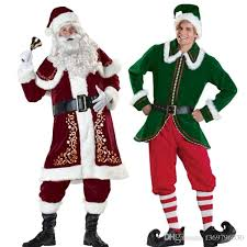2017 and green santa suit of high grade clothing