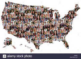 Image Of Usa Map by Usa Map Multicultural Group Of Young People Integration Diversity
