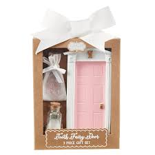tooth fairy gift mud pie tooth fairy door gift set girl pink baby