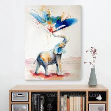 compare prices funny elephants online shopping buy low price skilled artist hand painted high quality modern abstract funny elephant oil painting canvas spray