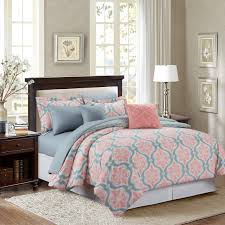 Cynthia Rowley Bedding Collection Marina Coral 100 Percent 8 Piece Comforter Set New Bedroom