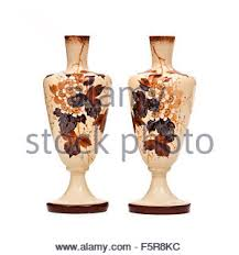 Victorian Glass Vase Pair Of Antique Victorian Hand Painted Opaline Enamelled Glass
