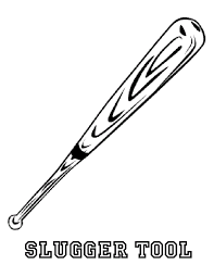 wooden bat coloring page sports pages of kidscoloringpage org