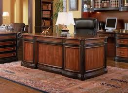 Office Desk Executive Two Tone Wood Executive Home Office Desk With 5 Drawers Home