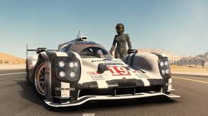 porsche 919 top view forza 7 u0027s first trailer takes a porsche 919 to the desert top gear