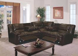 Sofa With Recliners Interesting Sectional With Recliner Leather Sofa Within Sofas