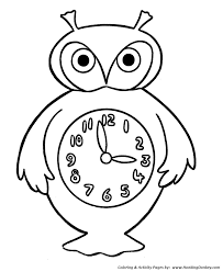 simple shapes coloring pages free printable simple shapes owl
