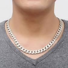 titanium link necklace images American style titanium cuban link chain necklace men jewelry jpg