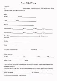 printable sample boat bill of sale form laywers template forms