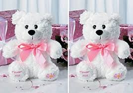 flower girl teddy gift two 2 flower girl teddy bears plush gift wedding