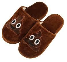 Leather Bedroom Slippers Warm Winter Slippers Emoji Cute Cartoon Soft Plush Casual Indoor