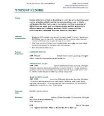 Sample Resume No Experience College Student strikingly beautiful sample resume college student 11 no