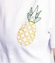 Ananas Pineapple Meme - diy broderie le t shirt brodé ananas à faire soi même elle be