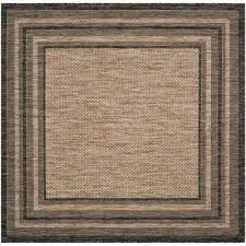Outdoor Rug Square Safavieh Striped Square Outdoor Rugs Rugs The Home Depot