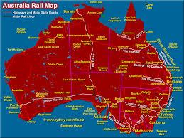 states australia map australia rail map