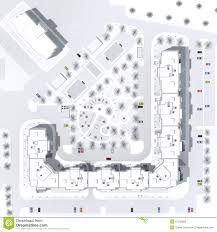 Floor Plan Of A Building Architectural Master Plan Of A Building Stock Illustration Image