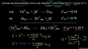using the nernst equation video khan academy