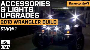 beach jeep accessories jeep wrangler 2007 2017 jk off roading with lights u0026 accessories