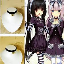anime choker necklace images Ictronix cosplay black lolita bell choker cat gothic jpg