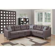 modern u0026 contemporary light grey sectional sofa allmodern