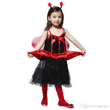 Dancer Halloween Costume Child Girls Red Ladybird Fancy Dress Costume Party Halloween