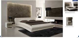 Bedrooms  Modern Leather Bedroom Furniture Image White And - Modern white leather bedroom set