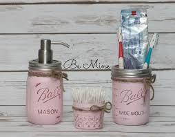 ball mason mason jar bathroom set 3 piece ball mason jar bathroom set ma