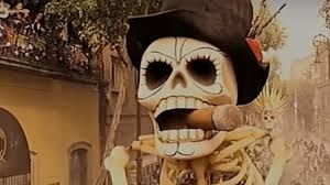 day of the dead zombie halloween mask spectre day of the dead scene opening sequence analysis youtube