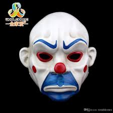 batman joker clown bank robber mask dark knight costume