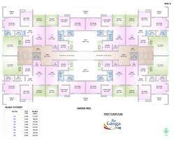 floor plan of sai ganga by goel ganga developments in right