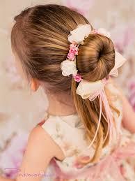 flowergirl hair bun wrap for flower girl