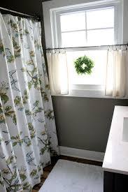 stylish ideas for bathroom window curtains bathroom window