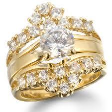 gold wedding rings sets gloria39s faux gold imitation diamond wedding ring set sale