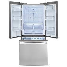 Stainless Steel Refrigerator French Door Bottom Freezer - kenmore elite 71323 21 8 cu ft french door bottom freezer