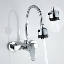 Wall Mount Kitchen Faucet Single Handle Chrome Brass Single Handle Wall Mounted Cold Water Wholesale