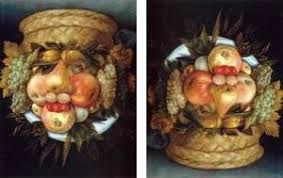 Basket Of Fruit Giuseppe Arcimboldo The Complete Works Reversible Head With