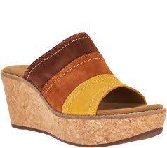clarks artisan nubuck leather wedge sandals aisley lily page 1