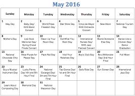 national calendar may the kirkwood call