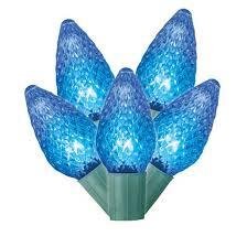 philips 25ct led faceted c9 string lights blue target