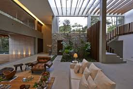 indoor garden glass roof contemporary home in nova lima brazil