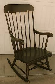 Toddler Rocking Chairs Furniture Nice Solid Black Wooden Rocking Chair With High Stick