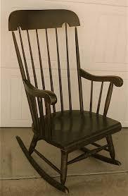 Outdoor Wood Rocking Chair Furniture Vintage Wooden Rocking Chair Design Featuring Wooden