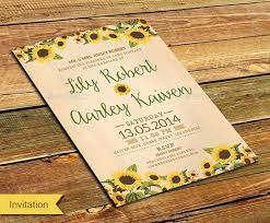 sunflower wedding invitations sunflower wedding invitations wedding corners